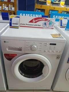 Mesin cuci LG 7Kg F8007NMCW kredit tanpa DP
