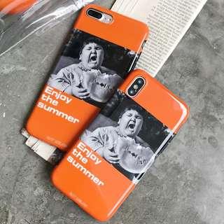Apple iPhone X 8 8Plus 7 6s Summer Mono Photographic 光面防震電話殼