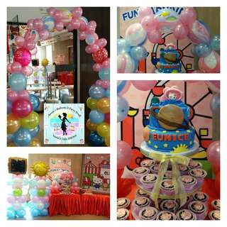 Hello Kitty Goes to Saturn / Solar System Theme Party Package