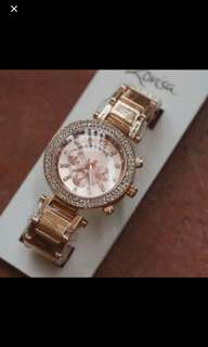 Brand New Lovisa Rose Gold Crystal Diamanté faux Chrono Watch bling glam