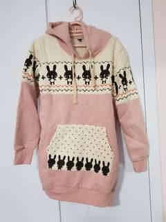 Cute rabbit hoodie