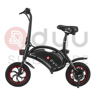 DYU Seated Electric Scooter Black