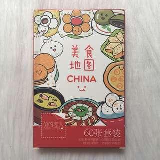 BNIB Food Postcards Set