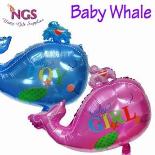 Foil Balloon - Baby Whale