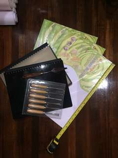 Boards, Canvas, Pads, Sheets, Clearbook, Carving set, Palette Knife
