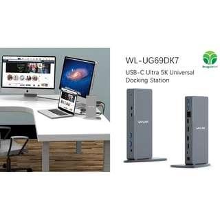 Wavlink WL-UG69DK7 USB-C 5K Ultra HD Multiple-Display Universal Docking Station
