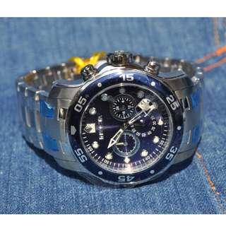 jam tangan INVICTA 0070 Pro Diver Chronograph Blue Dial [Original]