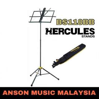Hercules BS118BB 3-Section Music Stand w/Bag, w/EZ Grip