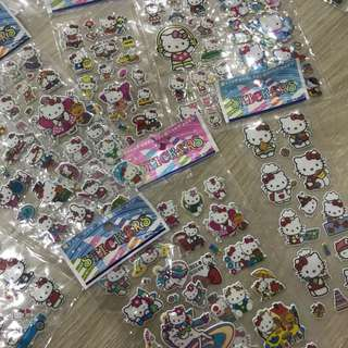 Stickers Barbie doll Sofia princess hello kitty