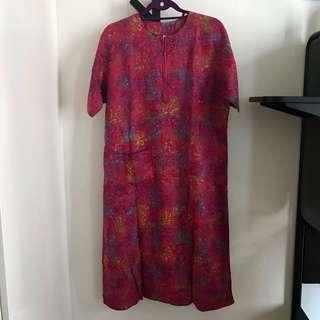 Batik Dress sz XL