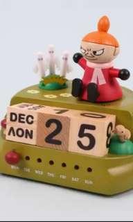 Moomin wooderful life阿美音樂盒萬年曆姆明一族music box