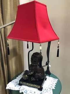 Chinese Auspicious Lion Lamp