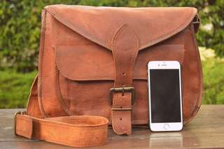 14-inch Handmade Leather Handbag