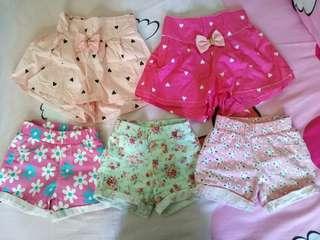 EUC girls shorts