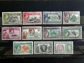British colonies unused stamps