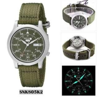 SNK805K2 SNK805 5折出售 深水步有門市全新1年保養有單正版正貨 日期星期 計時 SEIKO 精工