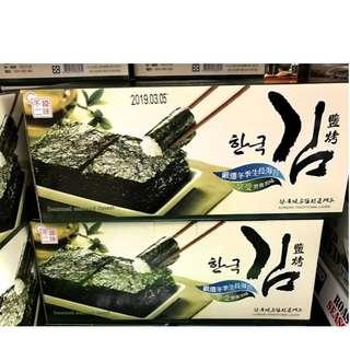 costco 好市多 代購 韓味不二 HANWHA ROASTED SEA WEED 韓國 鹽烤海苔 海苔