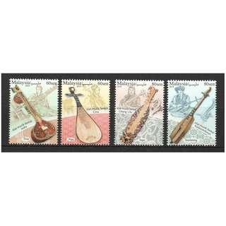 MALAYSIA 2018 MUSICAL INSTRUMENTS OF MALAYSIA SERIES 2 COMP. SET OF 4 STAMPS IN MINT MNH UNUSED CONDITION