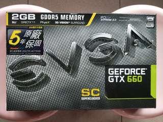 艾維克 EVGA GTX660 2GB SC GDDR5 192 bit PCI-E顯示卡