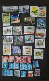 Nice Selection & Mix Collection Of Great Britain - 37v Used Stamps