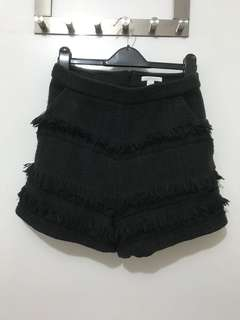 Black fashion shorts