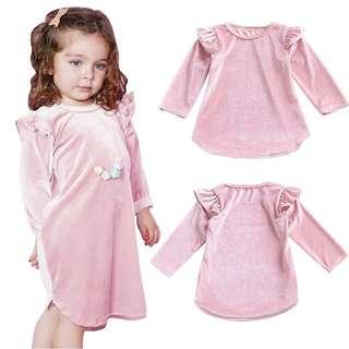 Dress sequin pink new anak