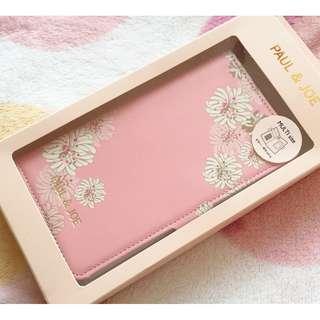 日本版 - Paul & Joe 經典招牌粉紅色大花圖案智能手機摺套 附鏡 (任何機適用)