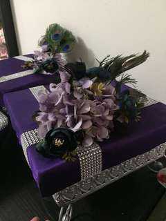 Decorated gubahan foam tray