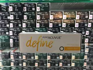 Acuvue Define daily  4 boxes