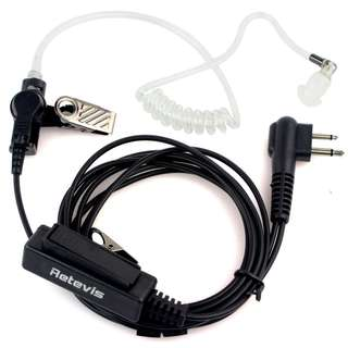 219. Retevis 2 Pin Covert Acoustic Tube Radio Earpiece Headset with PTT for Motorola 2 Way Radio