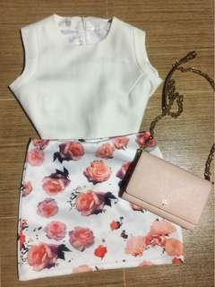 Floral Miniskirt