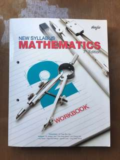 New Syllabus Mathematics 7th edition BRAND NEW workbook secondary 2