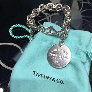 Tiffany and Co round tag bracelet