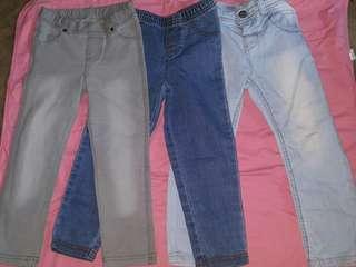 Pants for girl kid (3-4yo) take all 3 pants