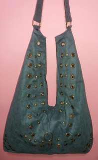 Shoulder Bag Suede Leather
