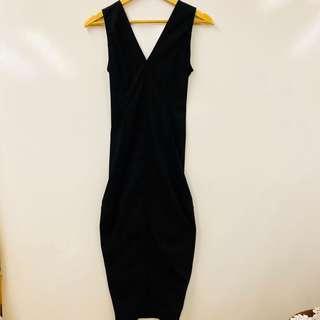 長身裙 Rick Owen black long dress size 38