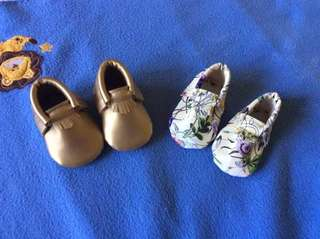 Moccasins for baby girls from 1-6 mos ☺️