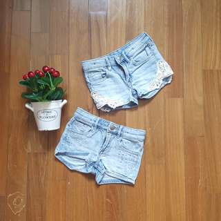 A Set of 2 H&M Short Jeans For Girl