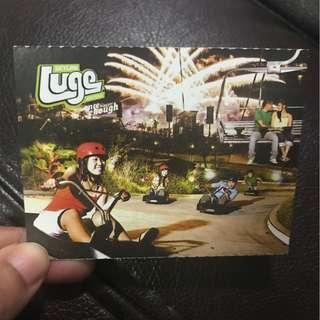 Luge ride - 2 rides at Sentosa