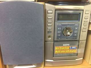 Sanyo CD, cassettes, radio player