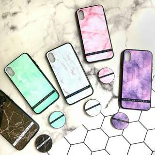 Grass marble popsocket
