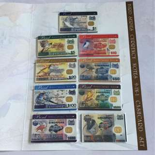 Bird Series Currency Notes 9-in-1 Cash Card Set