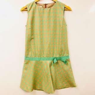 斯文裙 Red Valentino green dress size 40