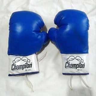 12oz Blue Champion Boxing Gloves