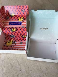 Empty colourpop parcel cartons