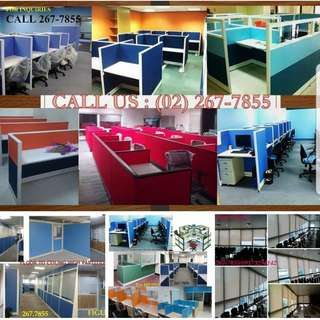 Modular Office Partition ang Furnitures