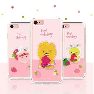 (包郵)🇰🇷Kakao Little Friends Strawberry Phone Case 士多啤梨手機殼