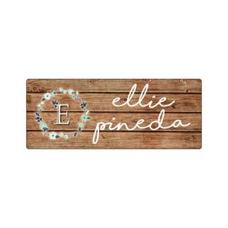 Personalized Sticker Labels (Rectangle) - Rustic Wood