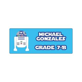 Personalized Sticker Labels (Rectangle) - Star Wars R2 D2