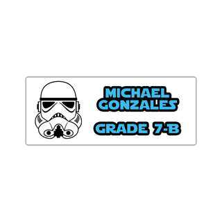 Personalized Sticker Labels (Rectangle) - Star Wars Storm Trooper